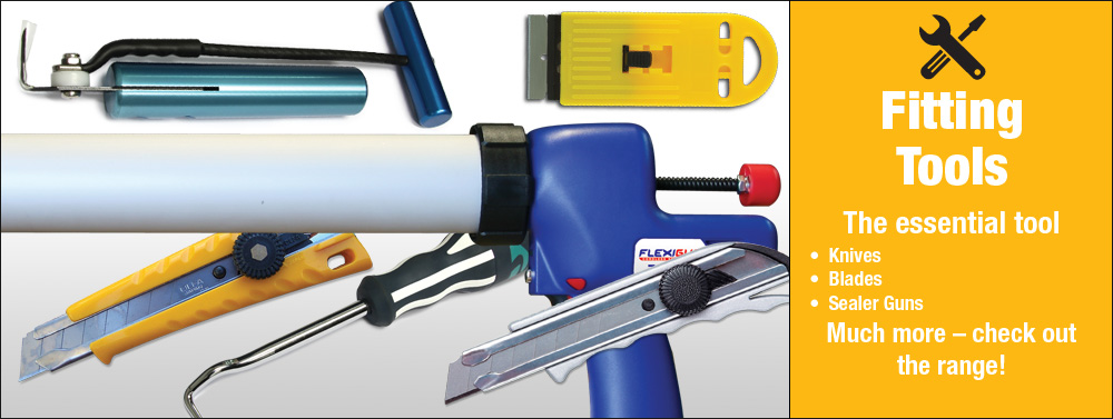 Fitting Tools - Knives, Blades, Sealant Applicatiors, Caulking Guns, Cold Knives